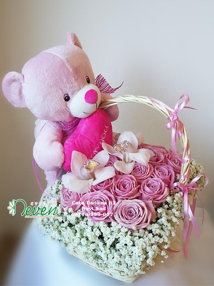 Meda, ruže i orhideje