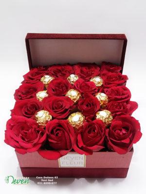 Ferrero roche i crvene ruže