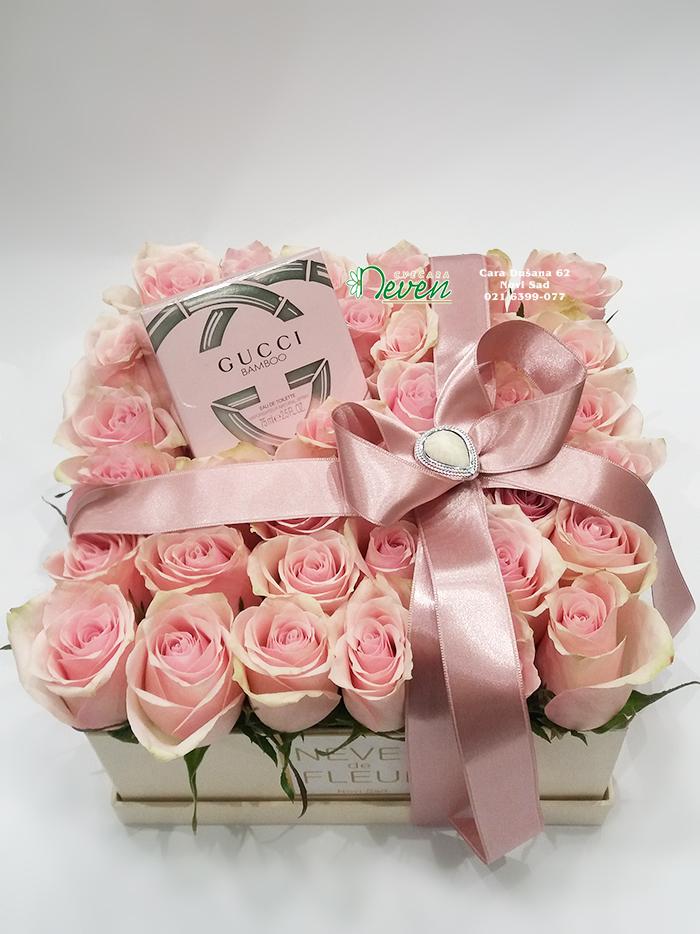 Ruže i parfem u kutiji