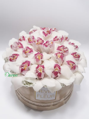 Flower box sa orhidejama